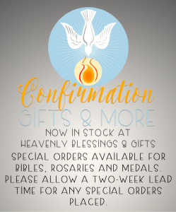 confirmation gifts confirmation medals confirmation cards mandeville louisiana 70471 heavenly blessings and gifts