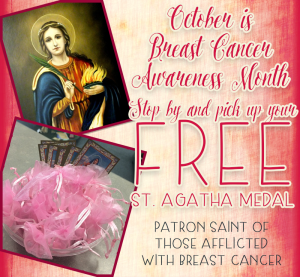 st. agatha breast cancer awareness month heavenly blessings and gifts mandeville la 70471 christian catholic gift shop and book store